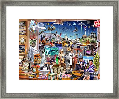 Movie Madness Framed Print by Adrian Chesterman
