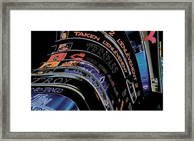 Framed Print featuring the photograph Movie Madness by Pennie  McCracken