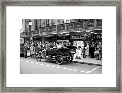 Movie Premiere Vancouver  1948 Framed Print by Daniel Hagerman