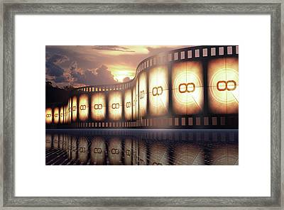Movie Reel At Sunset Framed Print