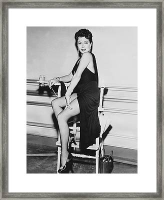 Movie Star Lana Turner Framed Print