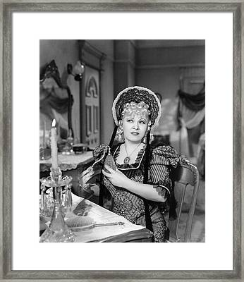 Movie Star Mae West Framed Print by Underwood Archives