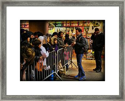 Movie Stars - The Artist Signing Autographs Framed Print by Lee Dos Santos