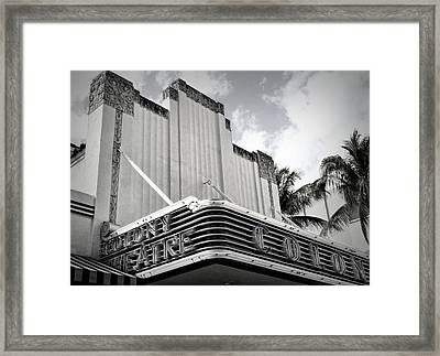 Movie Theater In Black And White Framed Print