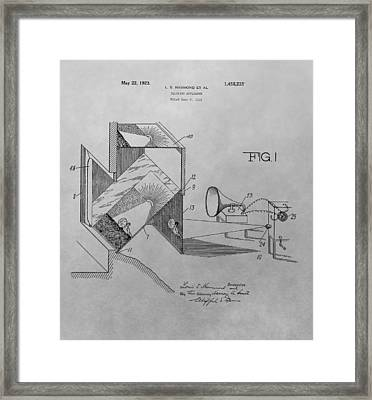 Movie Theater Patent Drawing Framed Print
