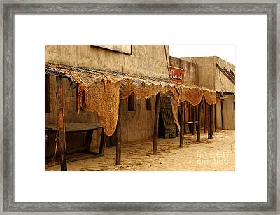 Movie Town Outside La Framed Print by Micah May