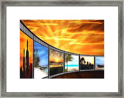Movies At Sundown Framed Print by Georgiana Romanovna