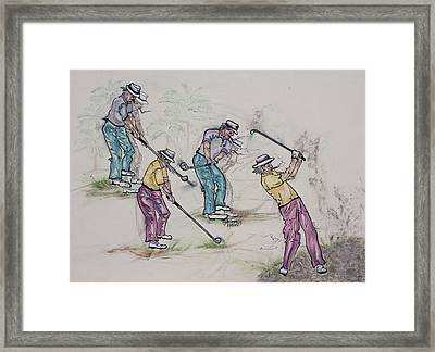 Movin Through The Game Framed Print by Suzanne Macdonald