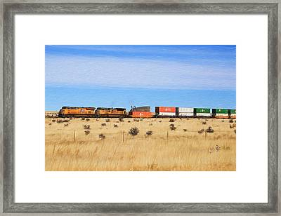 Moving America Across The Heartland Framed Print