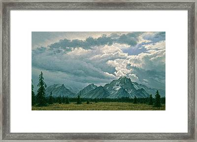 Moving Clouds-mount Moran Framed Print by Paul Krapf