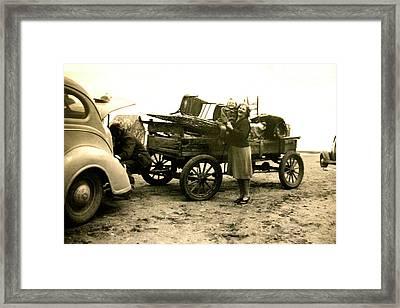 Moving Day Framed Print by Mavis Reid Nugent