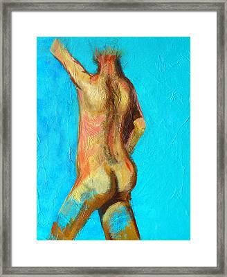 Moving Forward Framed Print by Nancy Merkle