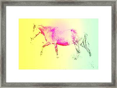 The Moving Spirit Within A Horse  Framed Print by Hilde Widerberg