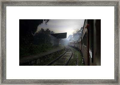 Moving Train Framed Print by Sanjeewa Marasinghe