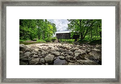 Moxley Covered Bridge Chelsea Vermont Framed Print by Edward Fielding