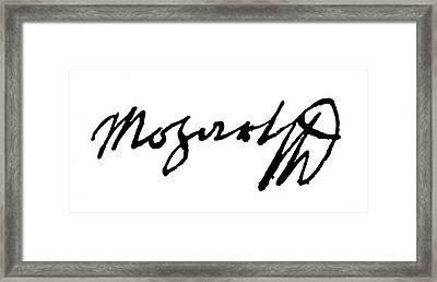 Mozart Autograph Framed Print by Granger