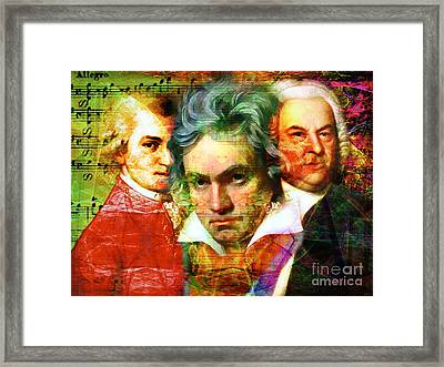 Mozart Beethoven Bach 20140128 Framed Print by Wingsdomain Art and Photography