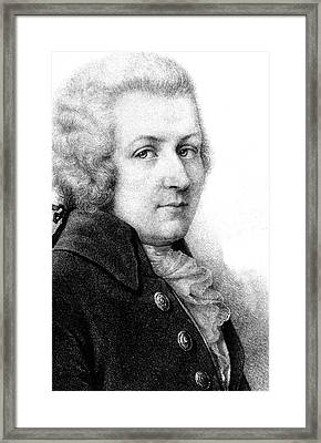 Mozart Framed Print by Collection Abecasis