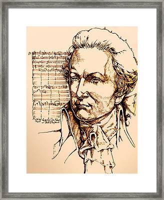 Mozart Framed Print by Derrick Higgins
