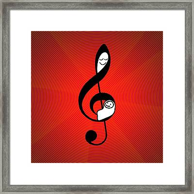 Mozart Effect, Conceptual Artwork Framed Print by Science Photo Library