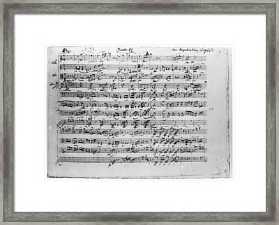 Mozart Quartet In C Major Framed Print