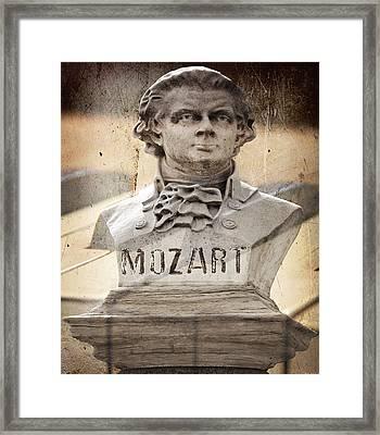 Mozart Framed Print by Steven Michael