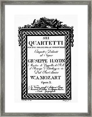 Mozart String Quartets Framed Print