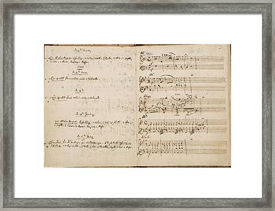 Mozart's Thematic Catalogue Framed Print