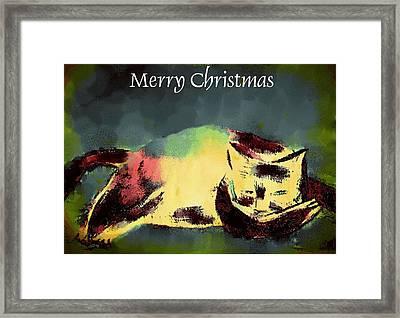 Mprints - Christmas Cheer 18 Framed Print by M  Stuart
