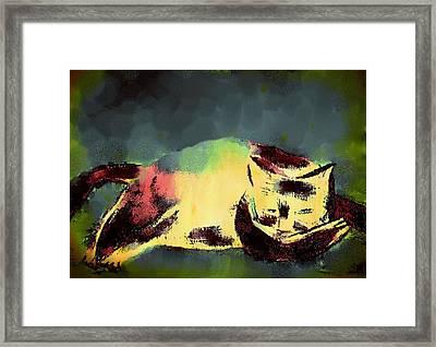 Mprints - Christmas Cheer 25 Framed Print by M  Stuart
