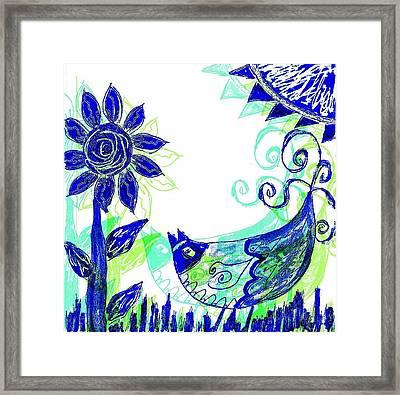 Mprints - Rosie 2 Framed Print by M  Stuart