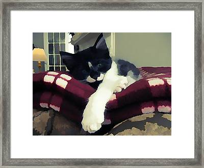 Mprints - Skippy's Bored Framed Print by M  Stuart