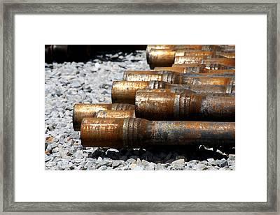 Mprints-black Gold Framed Print by M  Stuart