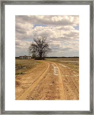 Mprints - Delta Church Framed Print by M  Stuart