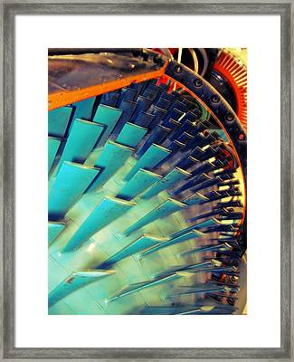 Mprints - Gears Grinding Framed Print