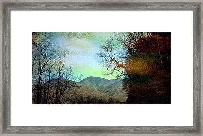 Mprints-smokey Mountain Memories Framed Print by M  Stuart