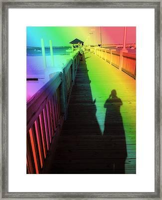 Mprints- The Long Walk Framed Print by M  Stuart