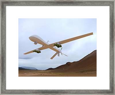 Mq-1 Predator Spyplane Framed Print