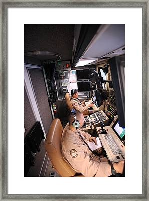 Mq-9 Reaper Ground Control Station Framed Print by Science Source