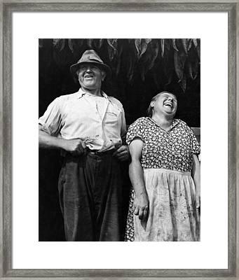Mr And Mrs Andrew Lyman Polish Tobacco Farmers Near Windsor Framed Print by Historic Photos