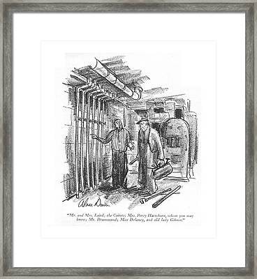 Mr. And Mrs. Laird Framed Print by Alan Dunn