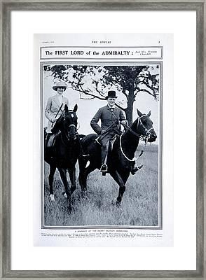 Mr And Mrs Winston Churchill Framed Print
