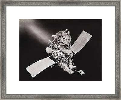 Mr Aviator Framed Print by Aged Pixel