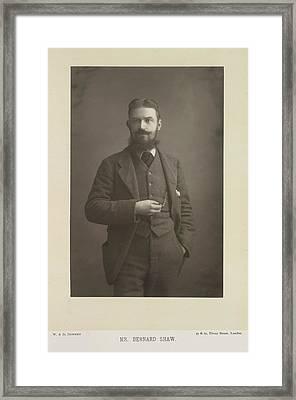 Mr Bernard Shaw Framed Print by British Library