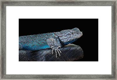 Mr Blu Framed Print by Michael Moriarty