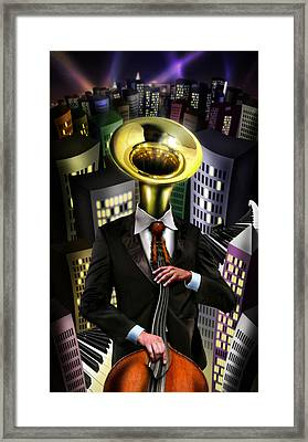 Mr Blue Framed Print