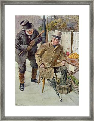 Mr Boffin And Silas Wegg, Illustration For Character Sketches From Dickens Compiled By B.w. Matz Framed Print
