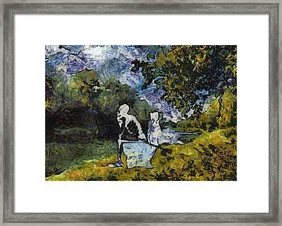 Mr Bones Fishing Photo Art 02 Framed Print