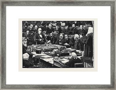 Mr. Bradlaugh Taking The Oath In The House Of Commons Framed Print