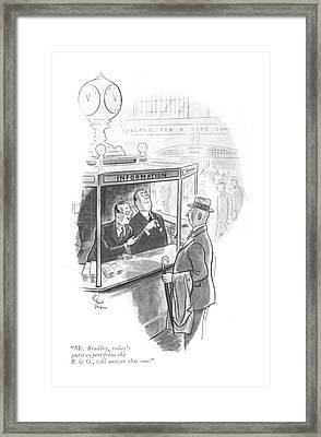 Mr. Bradley Framed Print